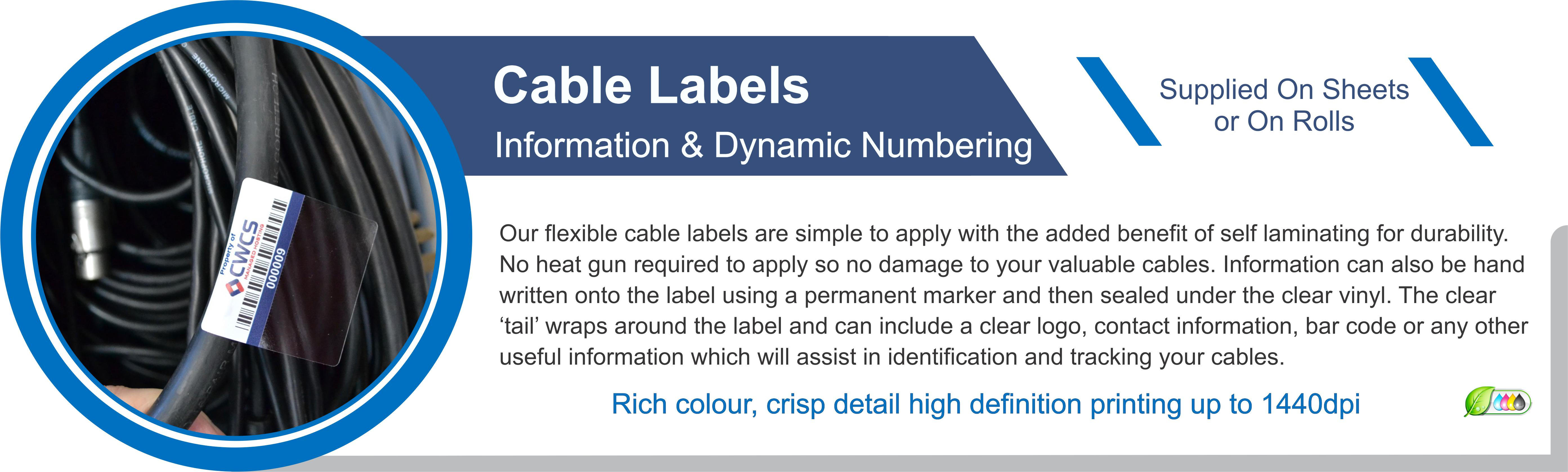 Cable Wrap ID Labels